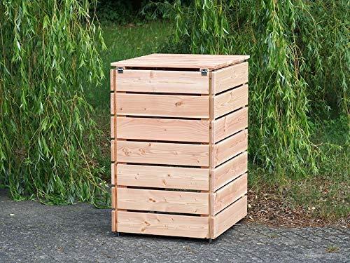 1er Mülltonnenbox / Mülltonnenverkleidung 240 L Holz, Douglasie Natur - 4