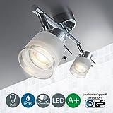 LED Baddeckenleuchte Schwenkbar Inkl. 2 x 5W Leuchtmittel 230V GU10
