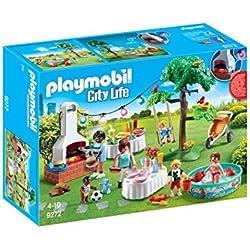 Playmobil Casa Moderna-9272 Fiesta en el Jardín, Multicolor (9272) , Modelos/colores Surtidos, 1 Unidad