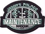 Star Wars Jabba 's Palace Wartung schwarz Bordüre bestickt abzeichen Patch Aufnäher oder zum Aufbügeln 9cm