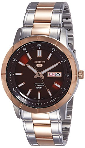 Seiko 5 Analog Red Dial Men's Watch - SNKN60K1