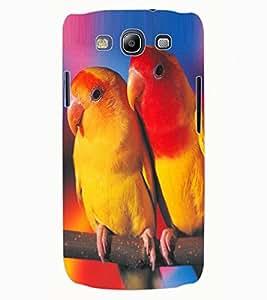 ColourCraft Love Birds Design Back Case Cover for SAMSUNG GALAXY S3 I9300