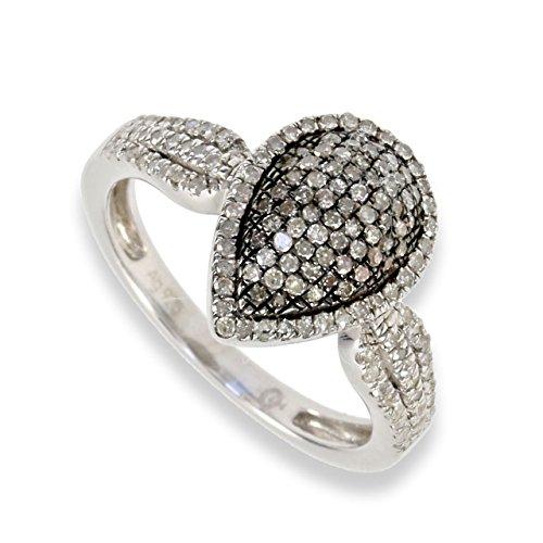 Ice Diamonds Damen-Ring Sterling-Silber 925 Diamant 0,45CT S411 (66 (21.0))
