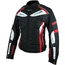 HEYBERRY Damen Motorradjacke Lang Textil Anny Schwarz Gr 44 XXL