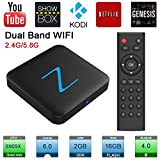 Zenopllige Z11 PRO Android TV BOX 2.4G/5G Wifi 2G/16G 4K HD Kodi 16.1 Android 6.0 Amlogic S905X Quad Core TV Box Google Streaming Lettore Multimediale Smart TV BOX immagine
