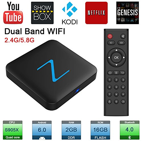 Zenopllige Z11 PRO Android TV BOX 2.4G/5G Wifi 2G/16G 4K HD Kodi 16.1 Android 6.0 Amlogic S905X Quad Core TV Box Google Streaming Lettore Multimediale Smart TV BOX