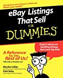 eBay Listings That Sell For Dummies by Marsha Collier (2006-05-01)