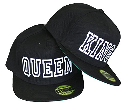 King & Queen Snapback Stylische Pärchen Caps Basecap Partner Look Kappe Mütze
