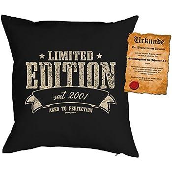 Kissen mit Schriftzug limited edition 30cm schwarz
