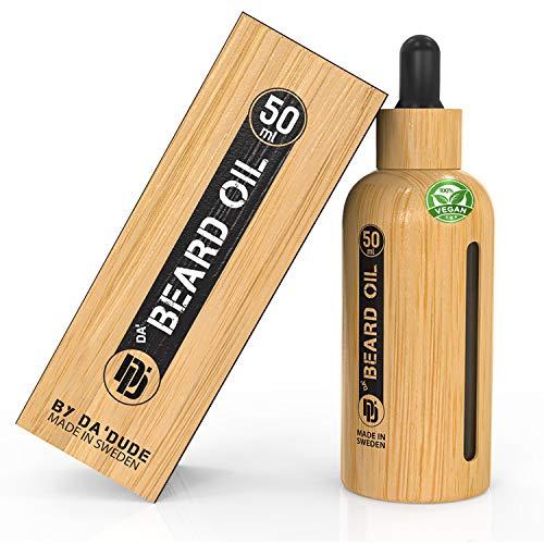Da'Dude Da' Beard-Oil Bartöl-Herren   Bestes-Bartöle-für-Männer   Perfektes Geschenk zur Bartpflege Einzigartige Holzflasche   Vegan zertifiziert
