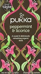 Pukka Peppermint & Licorice, Organic Herbal Tea (4 Pack, 80 Tea bags)