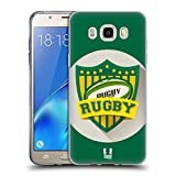 Head Case Designs Rugby Stemmi del Calcio Cover Morbida in Gel per Samsung Galaxy J5 (2016)