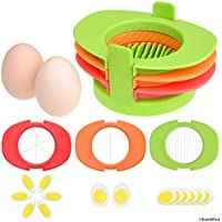Rebanador de Huevos con 3 Cortadores – Corta los Huevos Sancochados en Rebanadas Delgadas, Gajos