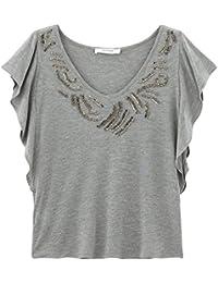 Promod Perlenbesticktes T-Shirt
