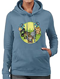 Wizard of Oz Dorothy And Friends Yellow Brick Road Women's Hooded Sweatshirt