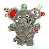 Vital Innovations Ll-Fr14068 Label-Label Schmusetier Elefant, gelb