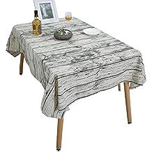 Manteles, YUUVE Mantel rectangular vintage de lino, Manteles mesa para Hosteleria, Jardin, restaurante Decoracion para hogar 140x200cm/55x79inch