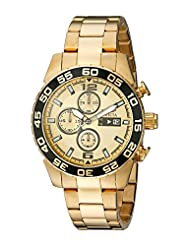 Invicta Specialty Men's Quartz Watch with Gold Dial Chronograph Display and 18K Gold Plated Stainless Steel Bracelet...