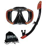 Spectra Dry Combo Set Taucherset Schnorchelset Maske Spectra und Schnorchel Spectra von Scubapro (Schwarz/Bronze)