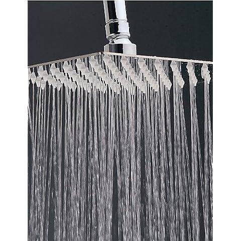 ZSQ il rubinetto della doccia a pioggia pioggia contemporaneo in acciaio inox cromo , argentea #2009