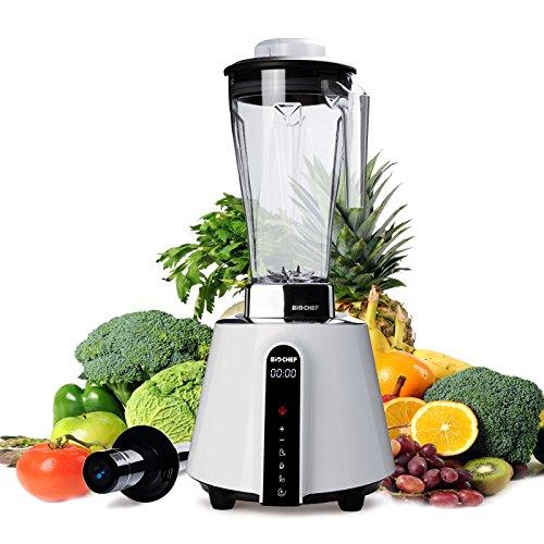 BioChef Living Food Blender - Batidora de Vaso Profesional 2L, 1680W, 32000 RPM, Pantalla Táctil, BPA Free, Garantía 10 Años (Blanco)