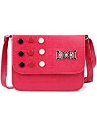 Glorist Maroon Leatherette Sling Bags For Women's And Girls