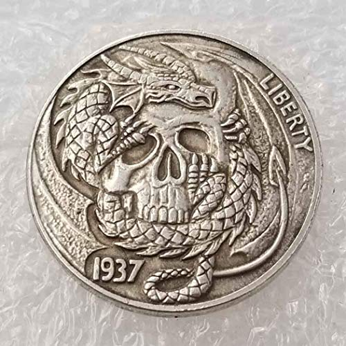 YunBest Best Morgan Silver Dollar-Münzen – 1937 Old Hobo Nickel Coin Collecting – Old Coin Collecting – Silber-Dollar USA Old Morgan Dollar – überzogene Silbermünzen BestShop