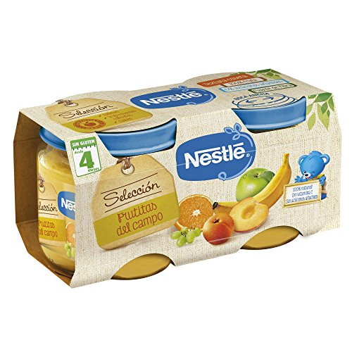 Nestlé Selección Tarrito de puré de fruta, variedad Frutitas del Campo, para...
