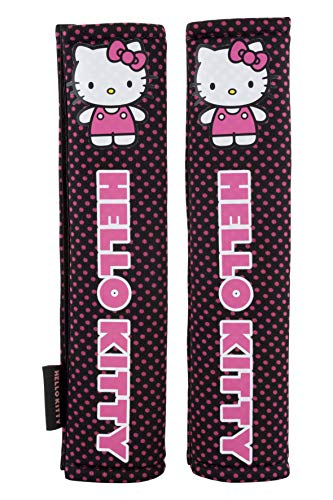 Hello Kitty KIT1034 Cuscinetti per Cinture di Sicurezza, Rosa, Set di 2