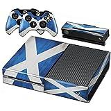 Xbox One Protective Vinly Skin Sticker Consola Decal Pegatinas + 2 Controlador & Kinect Skins Set (Flags Scotland)
