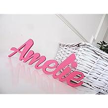 Amelie, Letreros personalizados para Niños o Niñas, Carteles de Nombres, Letreros Personalizados para puertas, Decoracciónes para Dormitorios, Letreros para el Cuarto de los Niños, Regalos Personalizados, Mia Workshop