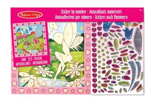 Melissa & Doug Peel and Press Sticker by Number Activity Kit: Flower Garden Fairy