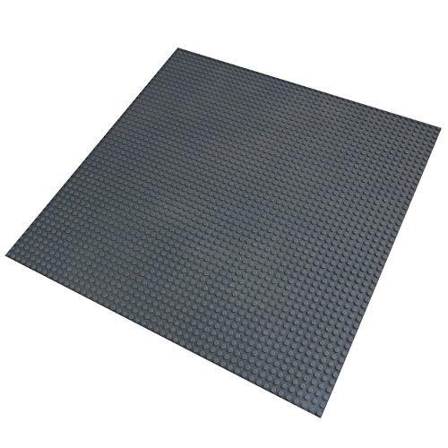 Katara 1672 - Große Bauplatte 100% Kompatibel Lego, Sluban, Papimax, Q-Bricks, 40cm x 40cm/50x50 Pins, Dunkel-Grau
