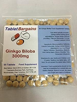 Tablet Bargains - Ginkgo Biloba 3000mg 180 Tablets