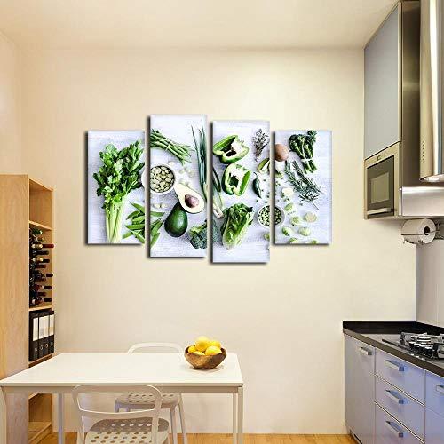 RuYun modulaire décoration Cuisine Image Impression sur Toile HD Quatre légumes...