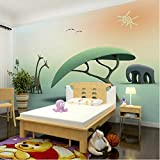 lsweia Benutzerdefinierte Cartoon Foto Tapeten Aufkleber Kinderzimmer Schlafzimmer 3D Home Decor Wandbilder Selbstklebende Vinyl/Seidentapete