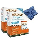 2 x 2 x 100ml Ardap Fogger Doppelpack Ungeziefer Vernebler für 4 Räume + Tuch