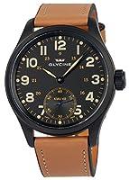 Glycine KMU 48 Kriegs Marine Uhren Manual Wind Black PVD Mens Watch 3906.99AT LB33 de Glycine