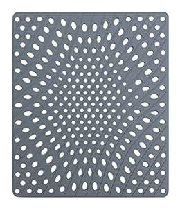 Tapis gris 28cm de large x 33cm de long Évier