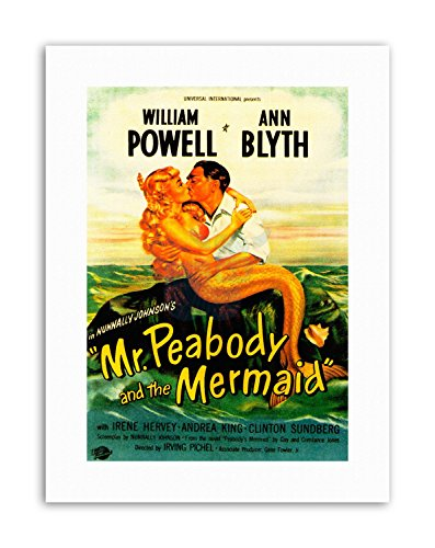MR PEABODY MERMAID POWELL BLYTH NEW Poster Picture Vintage Film Canvas art