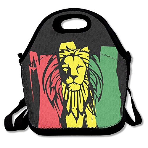 ae53555021d9 Kailey hello Dj Rasta Lion Lunch Bag Tote Handbag Lunchbox Food Container  Tote Cooler Warm Pouch for School Work Office