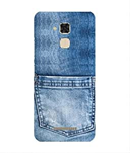 For Asus Zenfone Max ZC550KL -Livingfill- Denim jeans pocket Printed Designer Slim Light Weight Cover Case For Asus Zenfone Max ZC550KL (A Beautiful One of the Best Design with a Classic Theme & A Stylish, Trendy and Premium Appeal/Quality) (Red & Green & Black & Yellow & Other)