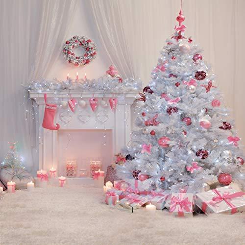 Rosa Weihnachtsbaum Fotografie Hintergrund Kamin Foto Studio Weihnachten Neugeborenen Fotografie Kulissen Weihnachtsschmuck 11-196 ()