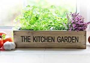 Kitchen Herb Garden Kit Windowsill Window Box Planter With