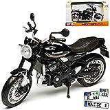 Kawasaki Z900 RS Schwarz 1/12 Maisto Modell Motorrad mit individiuellem Wunschkennzeichen