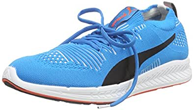 Puma Men's Ignite Proknit Atomic Blue, White and Red Blast Running Shoes - 9 UK/India (43 EU)