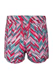 Mountain Warehouse Patterned Girls Board Shorts - Lightweight Swim Shorts, Adjustable Waist Kids Beach Trousers, Practical, Easy Care Short Pants - for Swimming, Pool Fuchsia 7-8 Years