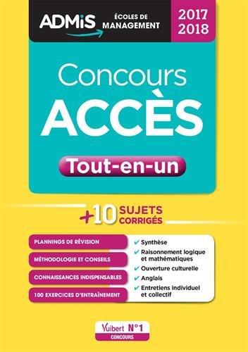Concours ACCÈS - Tout-en-un - Concours 2017-2018 Collection : ADMIS Écoles de management EAN par Jean-Dominique Picchiottino