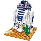 Figura de R2D2 de Star Wars para armar con minibloques. 569 bloques en miniatura.