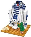 Figur R2D2 aus Star Wars, gebaut mit Mini-Bausteinen. 569 Miniatur-Bausteine.